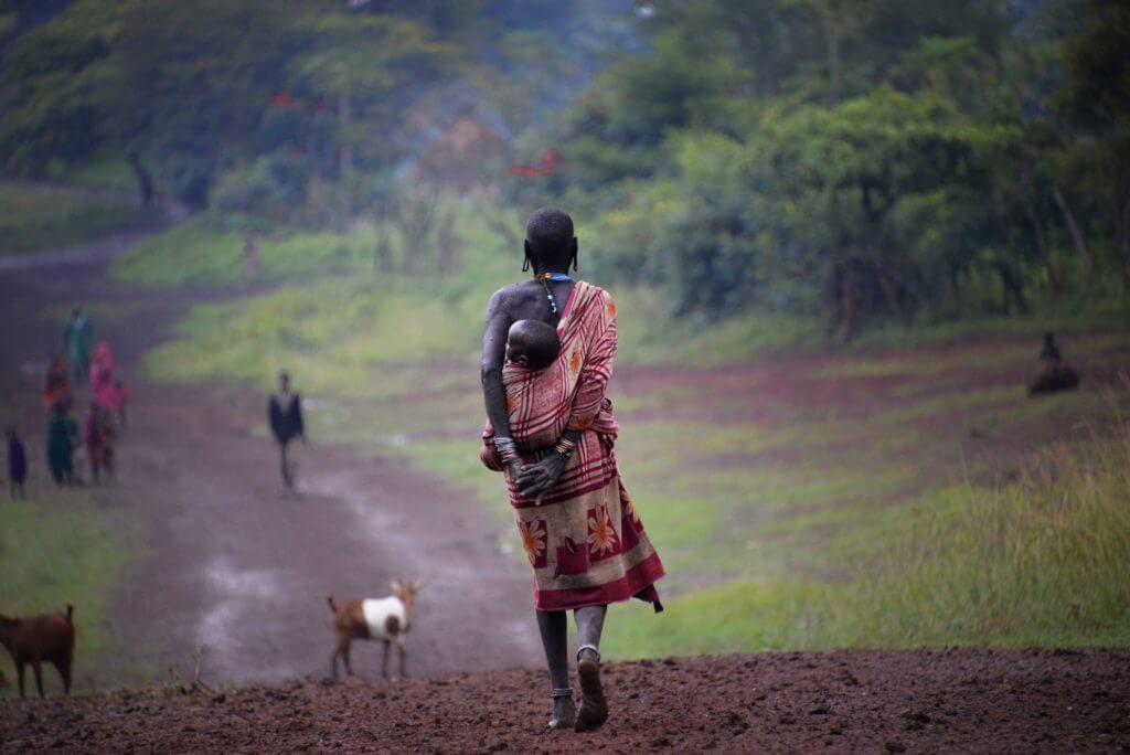 etnia etiope pastore madre