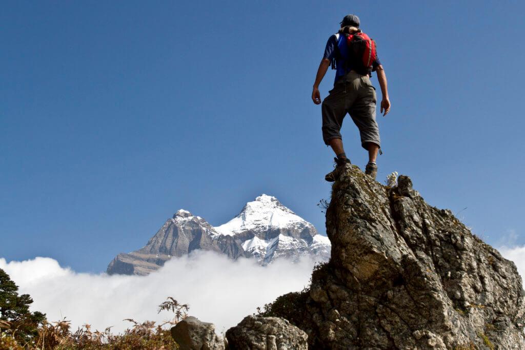 nepal panorama trekking cima